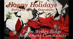 Happy Holidays from Wesley Ridge 2014